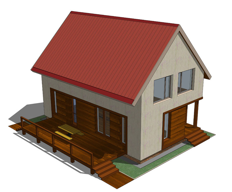 Типовой проект каркасно-щитового дома. Архитектор Дмитрий Антонов. АФ-студия