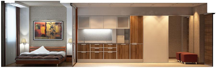 Дизайн интерьера 2 х комнатной