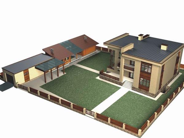 Проект индивидуального жилого дома с