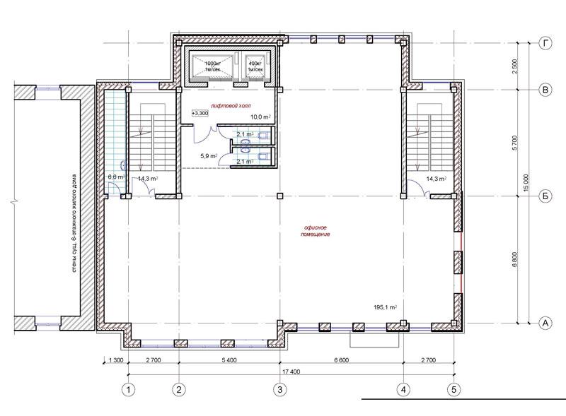 Проект административного здания по