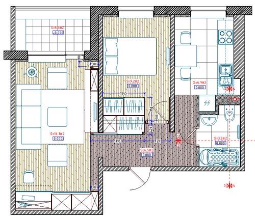 Интерьера 2 х комнатной квартиры 2