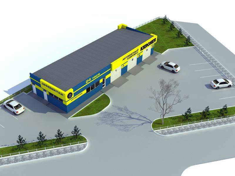 Проект и дизайн автомоечного комплекса 889