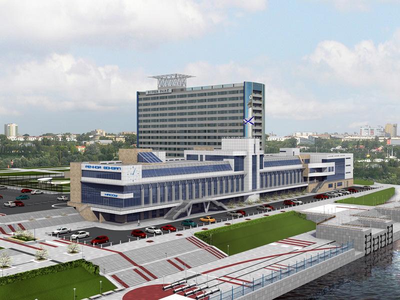 Проект реконструкции Речного вокзала и прилегающей территории набережной Оби. Архитектурно-планировочная мастерская«АрхиГрад»