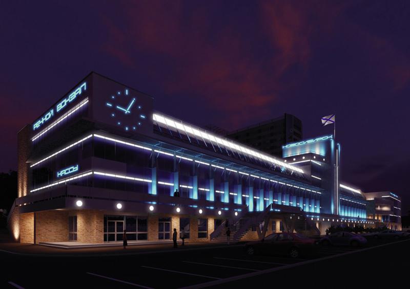 Проект реконструкции здания Речного вокзала и прилегающей территории набережной Оби. Архитектурно-планировочная мастерская «АрхиГрад»