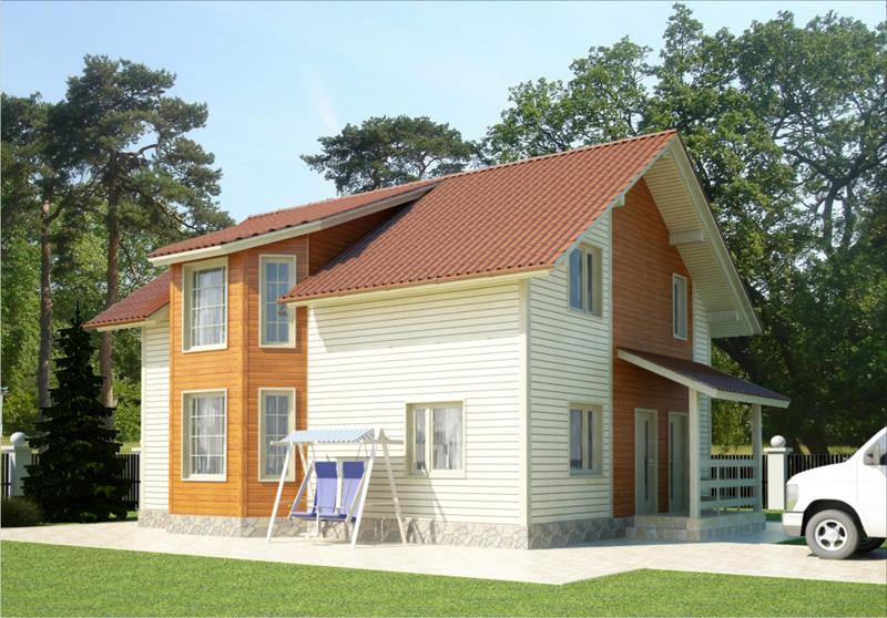Проект жилого дома серия народный