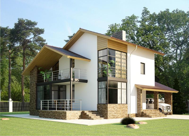 167 м². Проект жилого дома