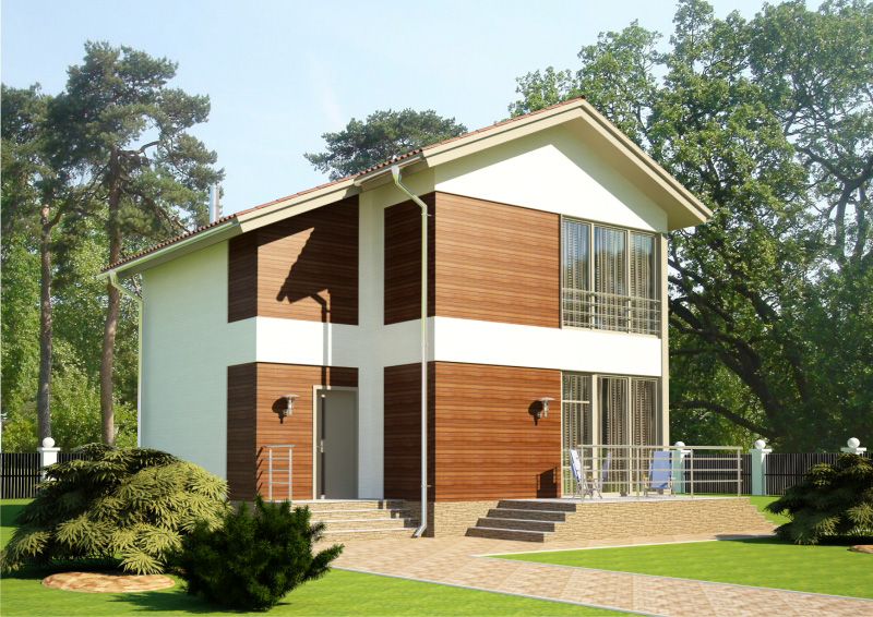 125 м². Проект жилого дома