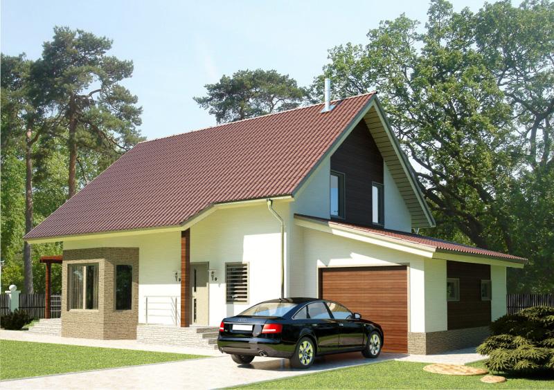 186 м². Проект жилого дома