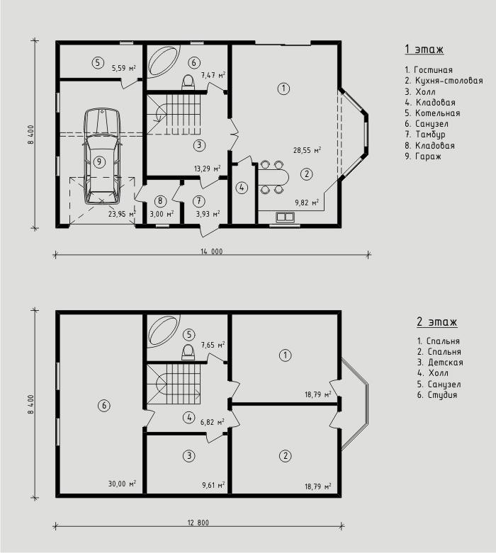 189 м². Проект жилого дома
