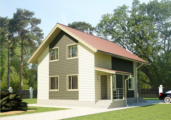 103 м². Проект жилого дома