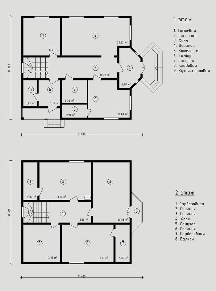 179 м². Проект жилого дома