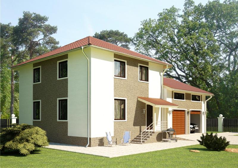 234 м². Проект жилого дома