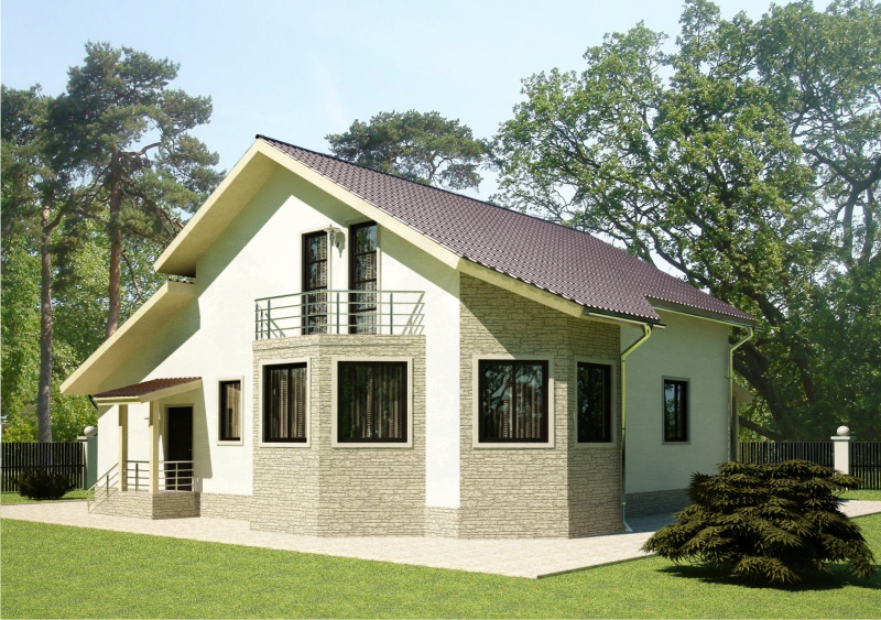 214 м². Проект жилого дома