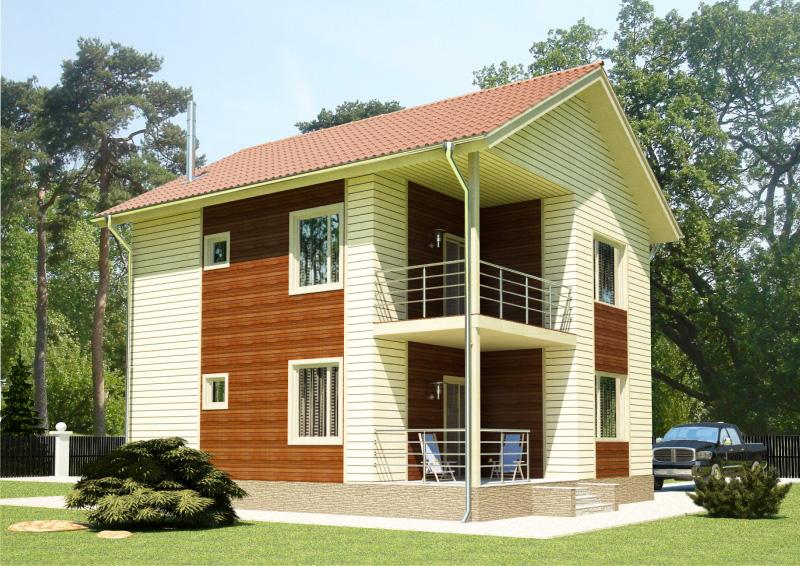 106 м². Проект жилого дома