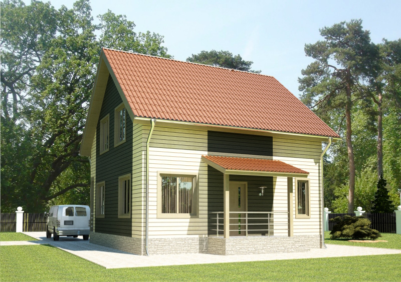 107 м². Проект жилого дома
