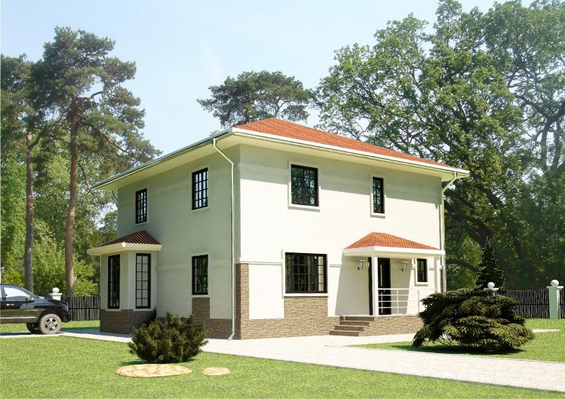 173 м². Проект жилого дома