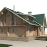 Проект индивидуального жилого дома из оцилиндрованного бруса