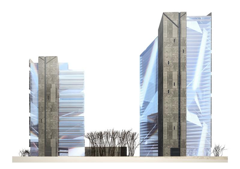 Архитектурная концепция культурного центра Владимира Высоцкого в Новосибирске. Архитектор: Геннадий Арбатский