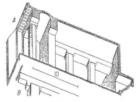 Архитектурные формы Древнего Египта. Египетские колоннады. Некрополь Бени-Гассана