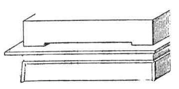 Храмы Древнего Египта. Карнак. Гранитный плафон перекрыт настилом из плит песчаника