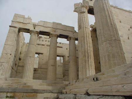 Акрополь в Афинах.  Памятники мировой культуры.