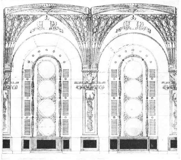А  П. Брюллов. Проект Александровской галереи в Зимнем дворце,  1834 г.