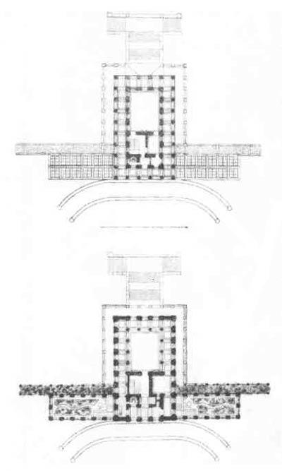 А. И. Штакеншнейдер. Проект павильона «Бельведер»   в     Петергофе.    План, 1851 г.