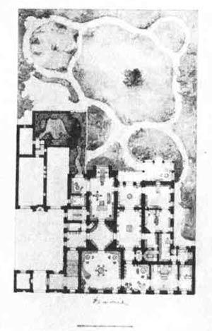 Г. А. Боссе. Проект собственного особняка. Генеральный план.  1850—1854 гг.