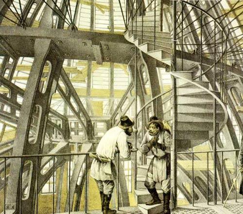 О. Монферран. Конструкции купола Исаакиевского собора. Рисунок  1830-х годов