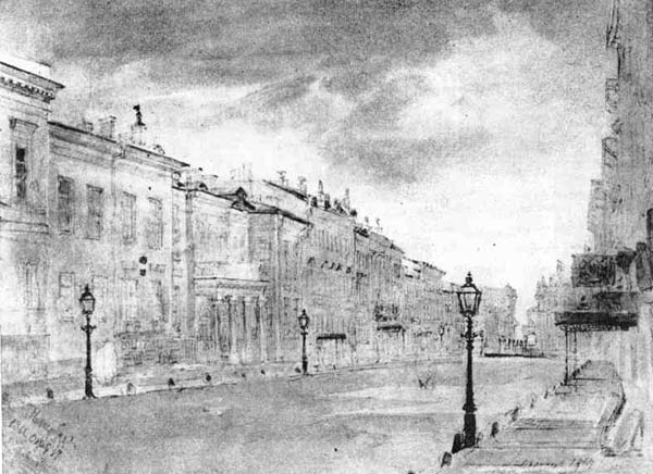 Улица в петербурге рисунок в