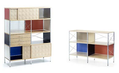 Vitra. Чарльз Эймс (Charles Ormand Eames) и Рэй Эймс (Ray Eames). Eames Storage Unit, 1949