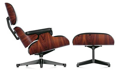 Vitra. Чарльз Эймс (Charles Ormand Eames) и Рэй Эймс (Ray Eames). Lounge Chair & Ottoman, 1956