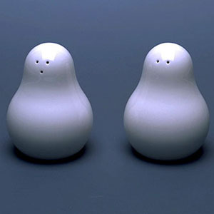 Шин и Томоко Азуми. Shin&Tomoko Azumi. Salt and Pepper Shakers – «Snowman»
