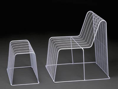 Шин и Томоко Азуми. Shin&Tomoko Azumi. Wire Frame Chair & Stool
