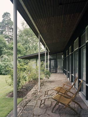 Бруно Матссон. Bruno Mathsson. House in Danderyd, Sweden by Bruno Mathsson, 1955