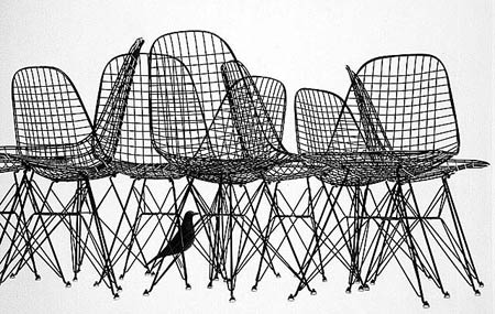Чарльз и Рэй Эймс. Charles Ormand Eames & Ray Eames. Wire Chair DKR