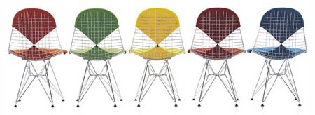 Чарльз и Рэй Эймс. Charles Ormand Eames & Ray Eames. Wire Chair DKR-2