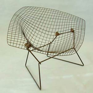 Гарри Бертойя. Bertoia Collection Lounge chair. «Diamond».  1952