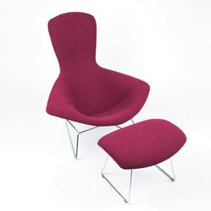 Гарри Бертойя. Bertoia Collection High back chair. 1952