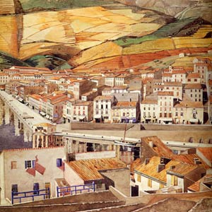 Чарльз Рени Макинтош. Charles Rennie Mackintosh. Акварель Port Vendres, La Ville, 1925-26