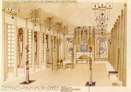 Чарльз Рени Макинтош. Charles Rennie Mackintosh. House for an Art Lover competition entry, 1901