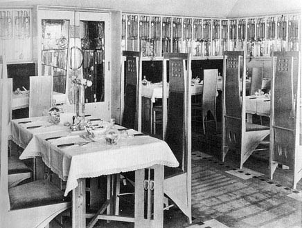Чарльз Рени Макинтош. Charles Rennie Mackintosh. Salon de Luxe in the Willow Tea Rooms, 1903
