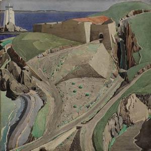 Чарльз Рени Макинтош. Charles Rennie Mackintosh. Акварель. The-Fort, 1925