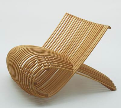 Марк Ньюсон. Marc Newson. Wooden Chair. Cappellini