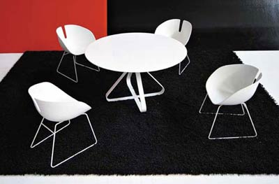 Патрисия Уркиола. Patricia Urquiola. Fjord chair. Fjord round table
