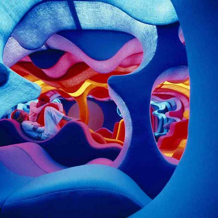 Вернер Пантон. Verner Panton. Visiona II exhibition for Bayer, Cologne, 1970