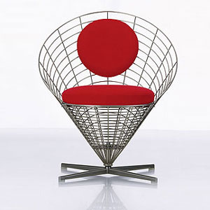 Вернер Пантон. Verner Panton. Wire Cone Chair