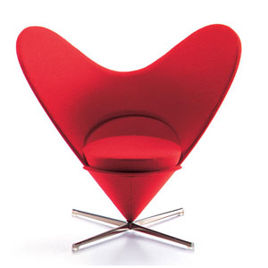 Вернер Пантон. Verner Panton. Heart-shaped Cone Chair M