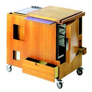 Трансформируемая мебель. Джо Коломбо. Joe Colombo. Мини-кухня. 1963