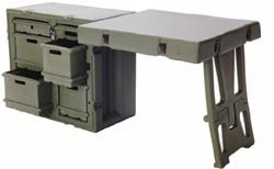 Трансформируемая мебель. Армейский трансформирующийся полевой блок, используется НАТО